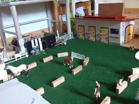 schleich centre equestre reding star part 1 youtube. Black Bedroom Furniture Sets. Home Design Ideas