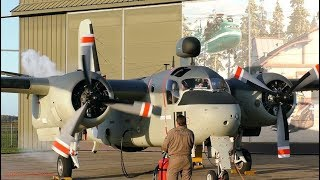 Grumman S-2 Tracker ENGINE START-UP and FOLDING WINGS at Aviodrome (EHLE)