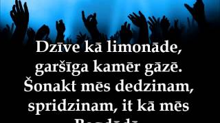 Bermudu Divstūris - Ballējam neguļam vārdi/lyrics