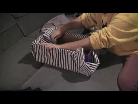 Diy Diaper Box Into A Gorgeous Storage Box Youtube