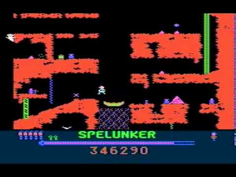 Spelunker - Classic Broderbund game for Atari XL/XE