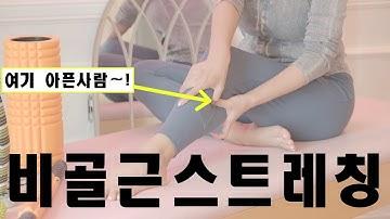 [PINK TV]여기아파요? 종아리가 아프고 걸을때 통증느끼는 사람은 이거만 따라해도 효과적 ! [비골근 /전경골근 스트레칭 & 마사지 ]