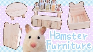 Popsicle Stick Furniture (with working doors!) ☆HAMSTER DIY☆