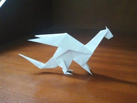 Origami easy dragon paper