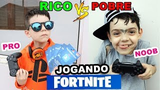 RICO VS POOR PLAYING FORTNITE