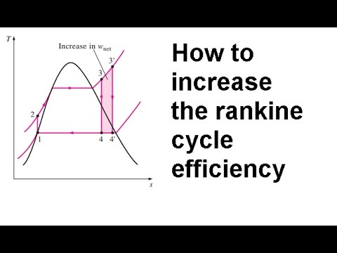 How can we increase the rankine cycle efficiency?