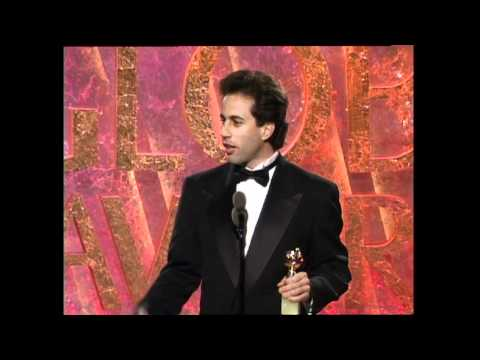 Jerry Seinfeld Wins Best Actor TV Series Musical or Comedy - Golden Globes 1994