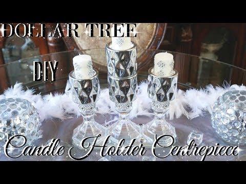 DIY DOLLAR TREE GLAM CANDLE HOLDER CENTREPIECE 💎  DIY HOME DECOR