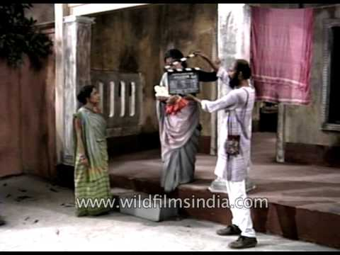 Actress Aparna Sen shoots for a Bengali film - archival footage