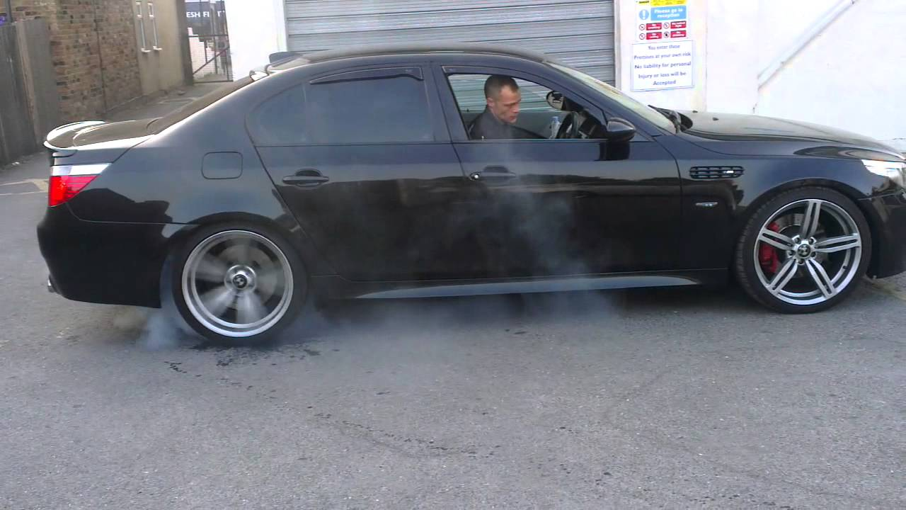 Super Bmw M5 Sport Special Burnout Tyres On Fire Youtube