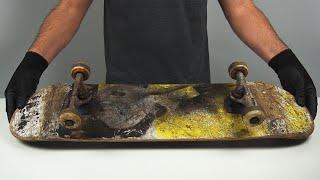 ABANDONED SKATEBOARD RESTORATION - Mỳ First Custom DIY (SATISFYING)