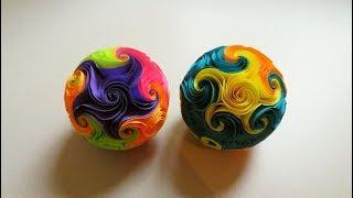 Twirl star ball (starfish) - step by step tutorial - EzyCraft