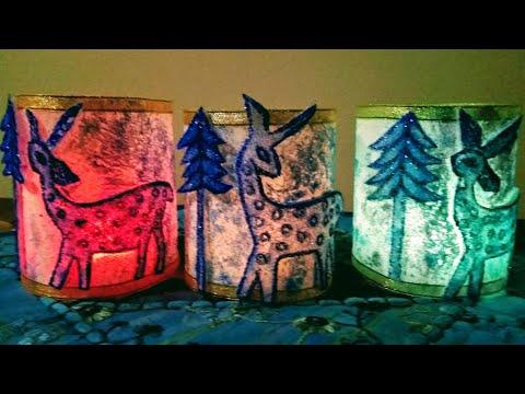 Christmas decorations Ideas   How To make Beautiful Tea Light Holders