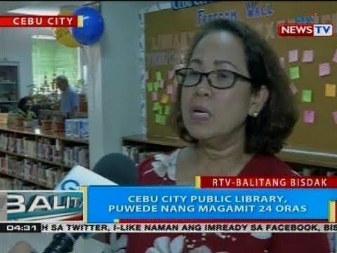 BP: Cebu City Public Library, puwede nang magamit 24 oras