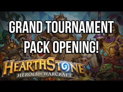 "Hearthstone (PC) - Opening ""The Grand Tournament"" Packs!"