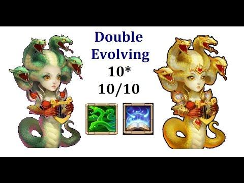 Double Evolving Max Skill MEDUSA Gameplay Castle Clash Spending Fame