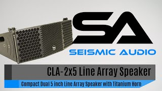 Seismic Audio CLA-2x5 Compact Line Array Speaker (Official)