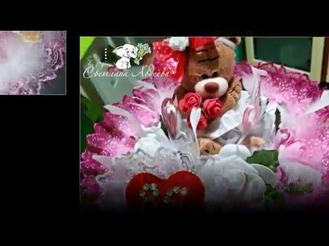 Cмотреть онлайн Букеты из мягких игрушек с мишками Тедди/Bouquets of soft toys Teddy bears