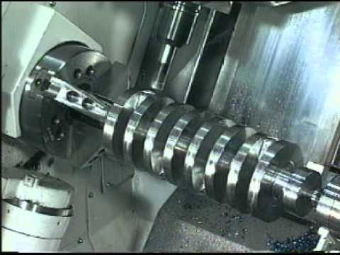 Mazak Integrex Machining Nascar Crankshaft From Solid