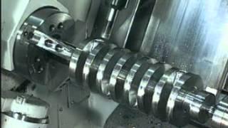 Mazak Integrex Machining NASCAR Crankshaft from Solid - Addy Machinery