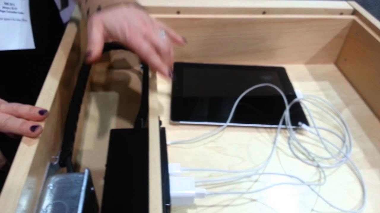 Docking Drawer Charge Electronics Inside A Drawer Youtube