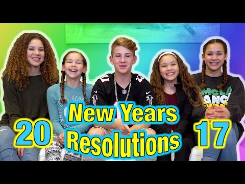 Thumbnail: 2017 New Years Resolutions! (MattyBRaps vs Haschak Sisters)