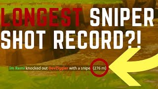 276 METER SNIPE NEW WORLD RECORD?! Fortnite Battle Royale