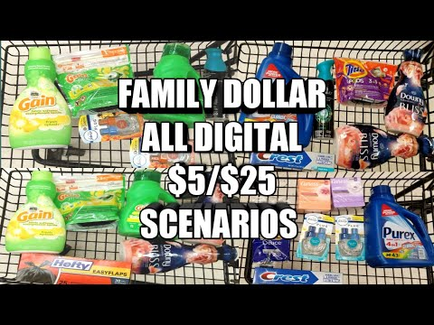 FAMILY DOLLAR ALL DIGITAL $5/$25 SCENARIOS