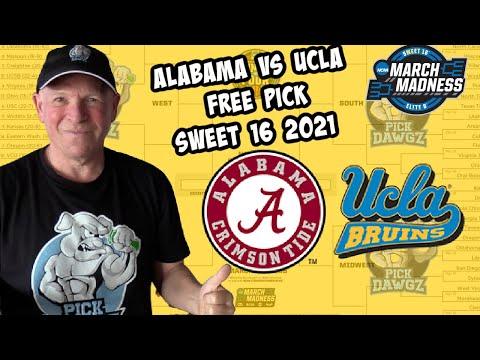 Alabama vs UCLA 3/28/21 Free College Basketball Pick and Prediction NCAA Tournament