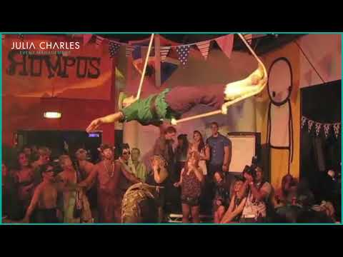 Medieval Aerial Trapeze for Hire – Aerialist Performer - London