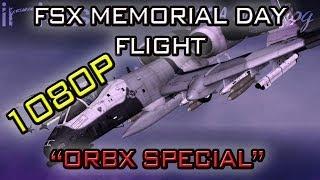 FSX Full Flight w/Remote Flight HD View - Iris A10a - Pt 1