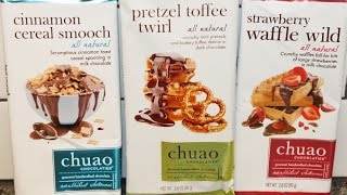 From California: Chuao – Cinnamon Cereal, Pretzel Toffee & Strawberry Waffle Review