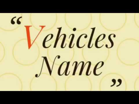 Transport Vehicles Name For Kids And Toddlers. Learn Vehicles Name.