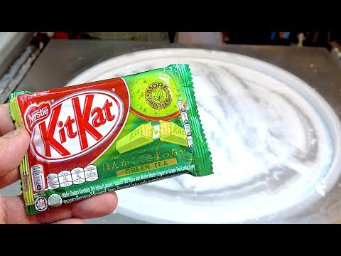 Thumbnail: ICE CREAM ROLLS | Japanese Matcha Green Tea KIT KAT Ice Cream with Corn flakes | Brownie Chocolate