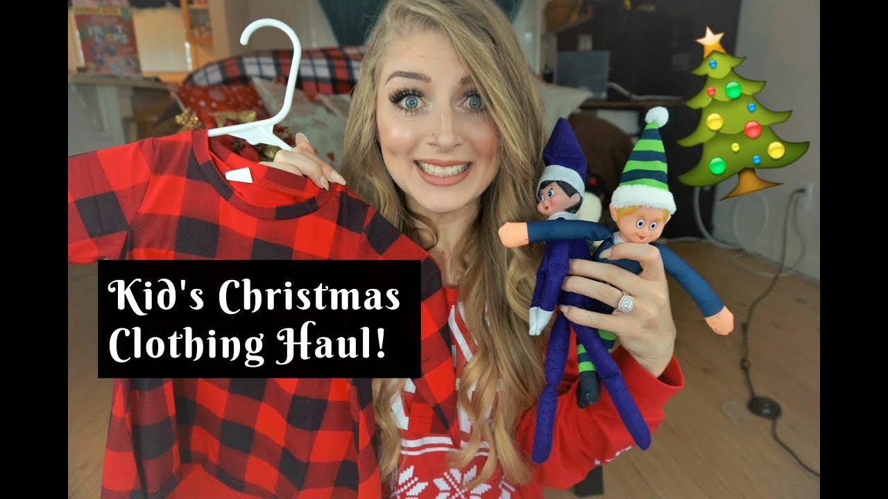 Kid\'s Christmas Clothing HAUL! - YouTube