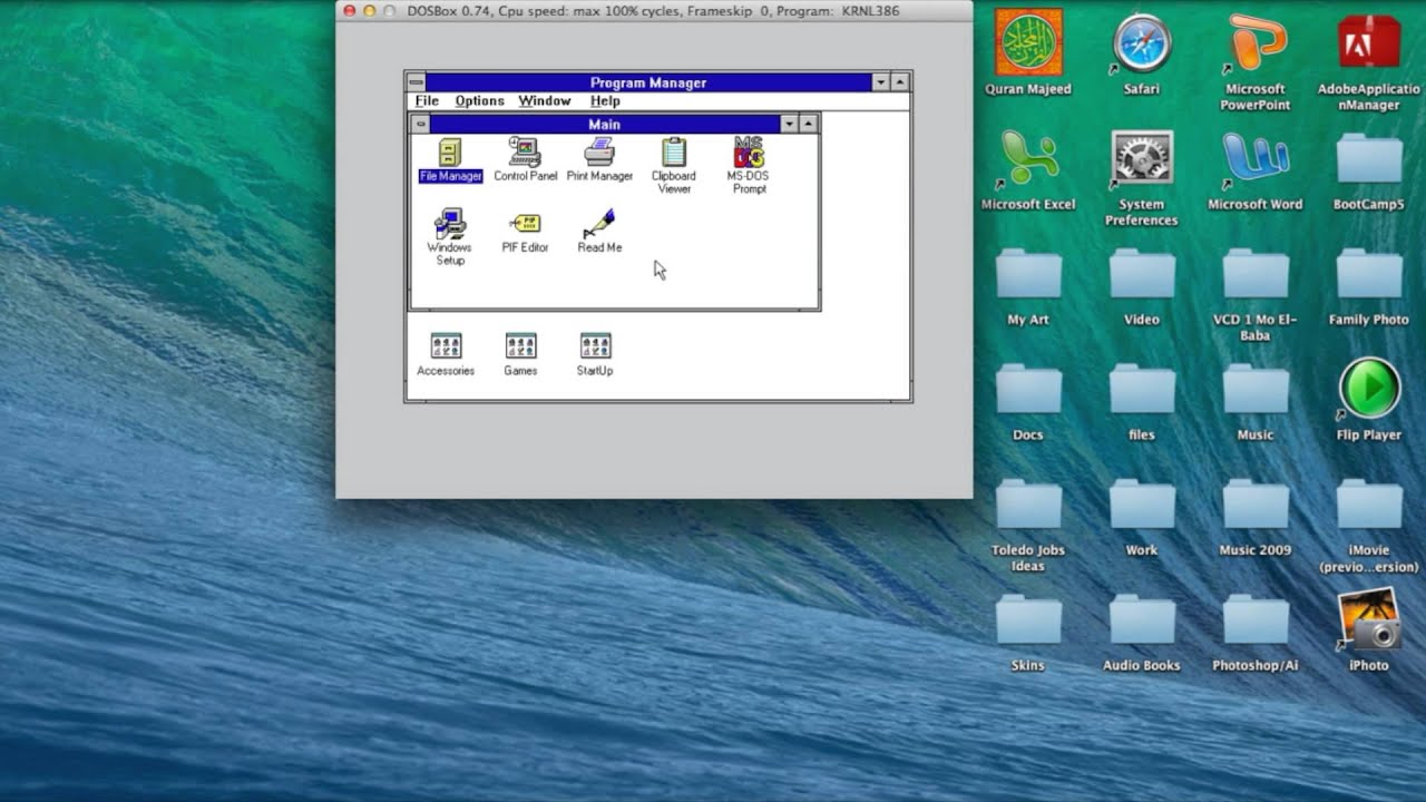How to get Windows 3 1 on DosBox for Computer and iPad