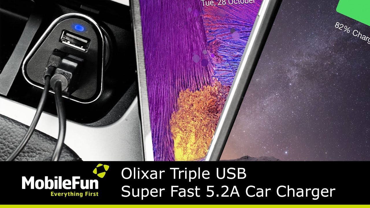 Player must olixar triple usb super fast car charger 5 2 amp The device