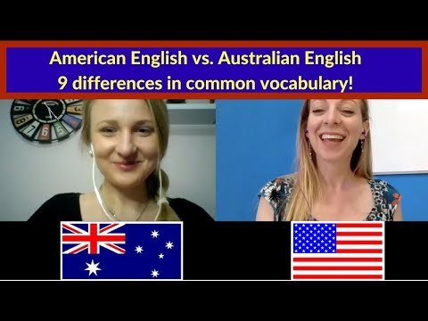 American English vs. Australian English - 9 differences in common vocabulary!