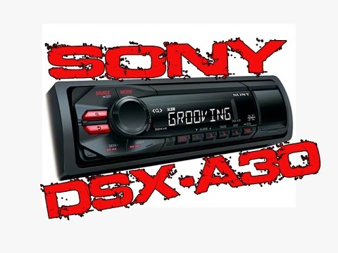 Sony DSX-A30 USB/AUX Car Stereo - Demo & Review