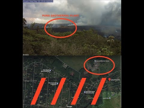 Live Footage, Kilauea Volcano Lava Covering Wells at Geothermal Plant, Latest