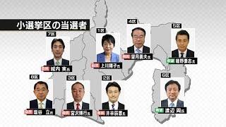 衆院選 歓喜と口惜しさと 県内小選挙区は 自民6希望2