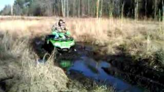 "Arctic Cat 700 ATV ""Green Bean"" Muddin.3GP"
