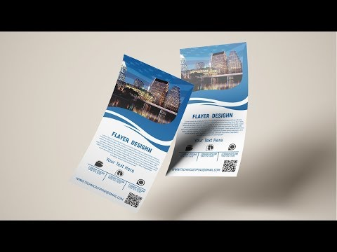 flyer design in adobe photoshop tutorial | how to create a flyer thumbnail