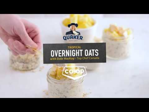 How to Make Tropical Overnight Oats with Chef Dale MacKay and Quaker | Recipe