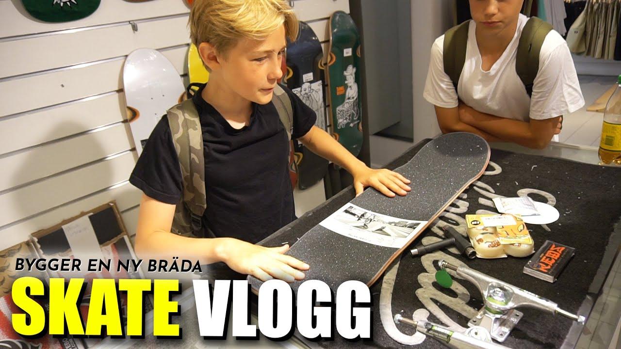 skate vlogg → BYGGER EN NY BRÄDA &  LÄR MIG VARIAL!