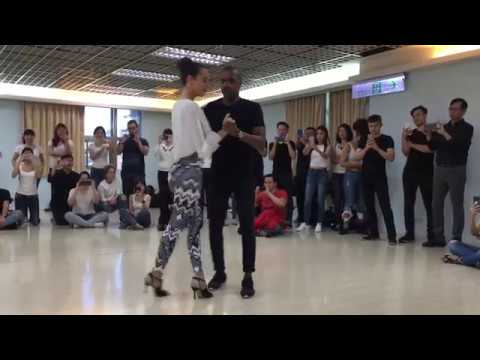 AMAZING KIZOMBA improvisation from Mika & Marine. Kizomba workshop in Taipei (march 2018)
