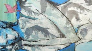Alice-ART Acrylbild gemalt auf Gelatine-Drucken,