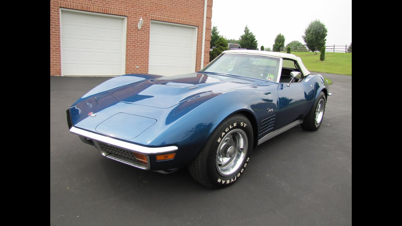 1972 Corvette Convert With Hardtop Muscle Car For Sale