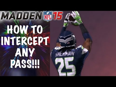HOW TO INTERCEPT ANY PASS IN MADDEN 15 | Madden 15 Gameplay Tutorial