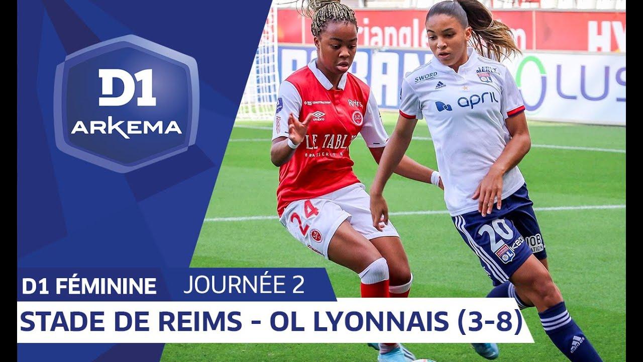 J2 Stade De Reims Olympique Lyonnais 3 8 D1 Arkema Youtube